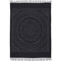 Torkkupeite Eurokangas Mandala, 150x200cm, tumma harmaa