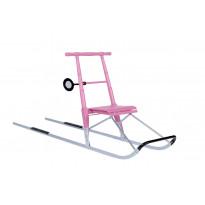 Lasten potkukelkka Esla T2, 100-130cm, pinkki