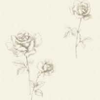 Tapetti Roses 127612 0,53x10,05 m ruskea non-woven