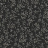 Tapetti Fine Flowers 127628 0,53x10,05 m musta non-woven