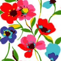 Tapetti Poppies 128027 0,53x10,05 m monivärinen non-woven