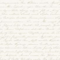 Tapetti Handwriting Latin Flower Names 128032 0,53x10,05 m luonnonvalkoinen/beige non-woven