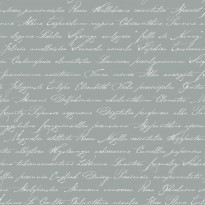 Tapetti Handwriting Latin Flower Names 128034 0,53x10,05 m harmaa non-woven