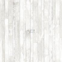 Tapetti Esta Greenhouse 128836, 0,53x10,05m, valkoinen/harmaa