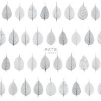 Tapetti Esta Greenhouse 128846, 0,53x10,05m, valkoinen/harmaa