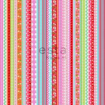 Tapetti Ribbons 138142 0,53x10,05 m pinkki/oranssi non-woven