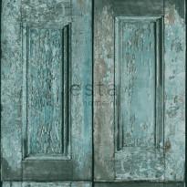 Tapetti Panel Doors 138208, 0,53x10,05m, turkoosi
