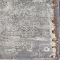 Tapetti Rusty Metal 138218, 0,53x10,05m, harmaa
