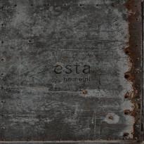 Tapetti Rusty Metal 138222, 0,53x10,05m, musta