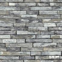 Tapetti Pieces Wood 138242, 0,53x10,05m, harmaa