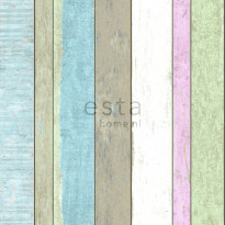 Tapetti Wooden Boards 138249, 0,53x10,05m, monivärinen