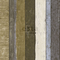 Tapetti Wooden Boards 138253, 0,53x10,05m, ruskea/khaki