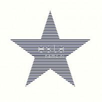 Tapetti Star with Stripes 138706 0,53x10,05 m tummansininen, valkoinen