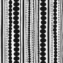 Tapetti Esta Fab 138838, 0,53x10,05m, musta/valkoinen