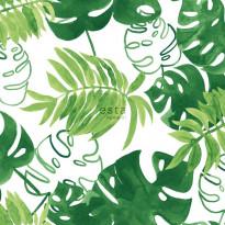 Tapetti Esta Greenhouse 138887, 0,53x10,05m, vihreä/valkoinen