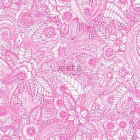 Tapetti Esta Cabana 148614, 0,53x10,05m, vaaleanpunainen