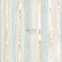 Tapetti Esta Cabana 148625, 0,53x10,05m, ruskea/sininen