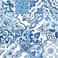 Tapetti Esta Cabana 148636, 0,53x10,05m, sininen/valkoinen