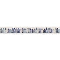 Boordi PhotowallXL Amsterdam Houses 157713 4000x465 mm sininen
