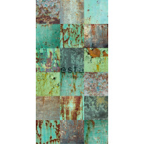 Tapetti WallpaperXXL Patchwork Weathered Emerald Green 158203, 46,5cm x 8,37m