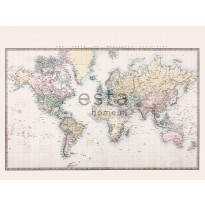 Paneelitapetti PhotowallXL Vintage Map of The World 158210, 3720x2790mm