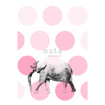 Kuvatapetti PhotowallXL Elephant 158708 1860x2790 mm vaaleanpunainen