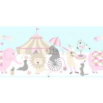 Boordi Circus 178702 5000x265 mm vaaleanpunainen, vaaleansininen