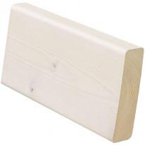Laudelauta E.T. Listat SHP saunasuojattu kuusi, 2400x140x112 mm, valkoinen 4 kpl