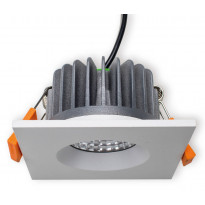 LED-alasvalo Interno neliö 9W, 4000K, 60°, IP44, Ø 85x47 mm, valkoinen, himmennettävä