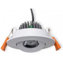LED-alasvalo Interno 4W, 4000K, 20°, IP20, Ø 90x41 mm, valkoinen, suunnattava