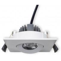 LED-alasvalo Interno neliö 4W, 3000K, 20°, IP20, Ø 90x41 mm, valkoinen, suunnattava