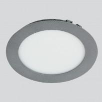 LED-paneeli Euli Interno 8W, 4000K, IP44, Ø117mm, uppo harmaa himmennettävä