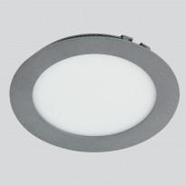 LED-paneeli Euli Interno 11W, 4000K, IP44, Ø180mm, uppo harmaa himmennettävä