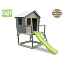 Leikkimökki Exit Aksent, liukumäellä