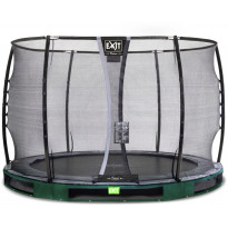 Maatrampoliini Exit Elegant Ground Premium, eri kokoja, vihreä, sis. Deluxe-turvaverkko