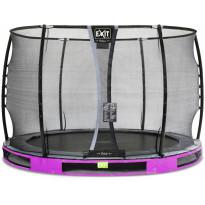 Maatrampoliini Exit Elegant Ground Premium, eri kokoja, violetti, sis. Deluxe-turvaverkko