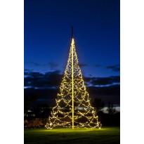 Lipputangon valosarja Fairybell LED 2000 valoa, 2700K, korkeus 10m