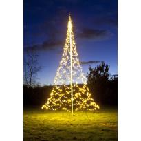 Lipputangon valosarja Fairybell LED 960 valoa, 2700K, korkeus 6m
