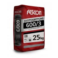 Juotosbetoni Fescon JB 600/3 25 kg, myyntierä 8kpl, Verkkokaupan poistotuote