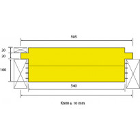 Eristelevy Finnfoam FL-K600, 140mm, seinä- ja kattoeriste, 1.56m²/kpl