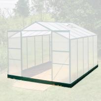 Teräs sokkeli kasvihuoneeseen, Season Standard Duo 7,7m², vihreä