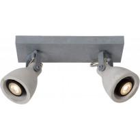 LED-spottivalaisin Lucide Concri-LED, GU10, 2x5W, harmaa