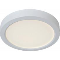 Kattovalaisin Lucide Tendo-LED, Ø22 cm, valkoinen