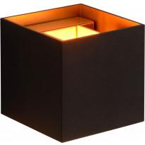 Seinävalaisin Lucide Xio LED neliö, 1x4W, musta