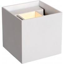 Seinävalaisin Lucide Xio LED neliö, 1x4W, valkoinen
