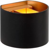 Seinävalaisin Lucide Xio LED pyöreä, 1x4W, musta