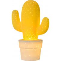 Pöytävalaisin Lucide Cactus, Ø20 cm, keltainen