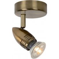 Seinävalaisin Lucide Caro LED, Ø9 cm, GU10, 1x5W, pronssi