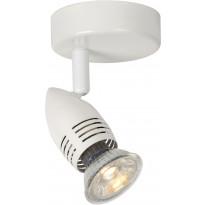 Seinävalaisin Lucide Caro LED, Ø9 cm, GU10, 1x5W, valkoinen
