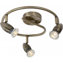 LED-spottivalaisin Lucide Caro-LED, 3x5W, pronssi